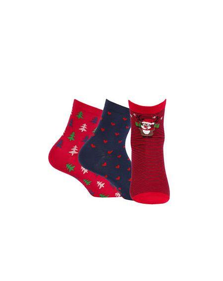 Socks Wola W84.55P Christmas women's A'3 36-41