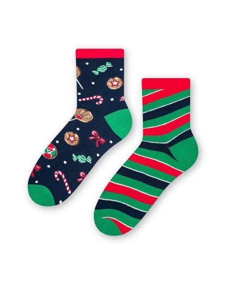 Steven socks art.136 Christmas asymmetrical women's 35-40