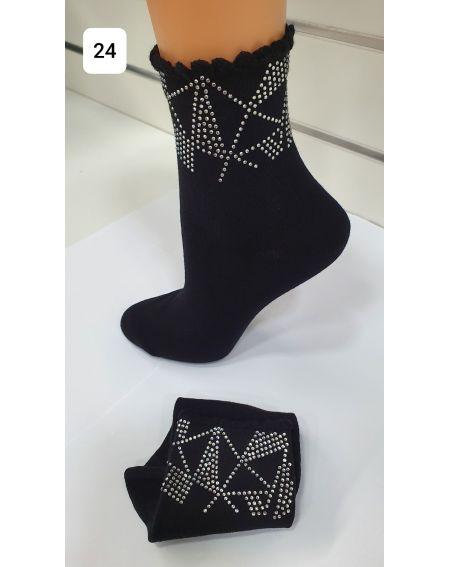 Magnetis 62 Zirconia Triangles Socks