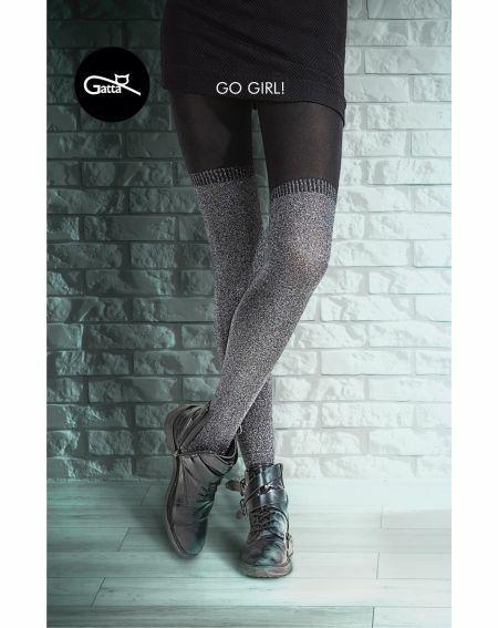 Gatta Go Girl Tights! Collant Lurex 2-4