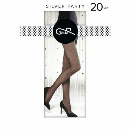 Rajstopy Gatta Silver Party wz.05 20 den 2-4