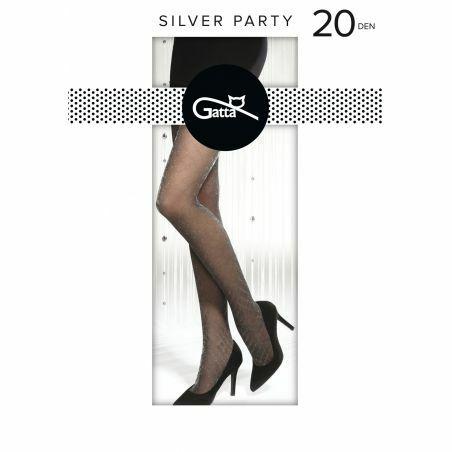Rajstopy Gatta Silver Party wz.07 20 den 2-4