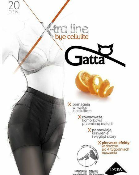 Gatta Bye Cellulite Tights 20 denier 5-XL
