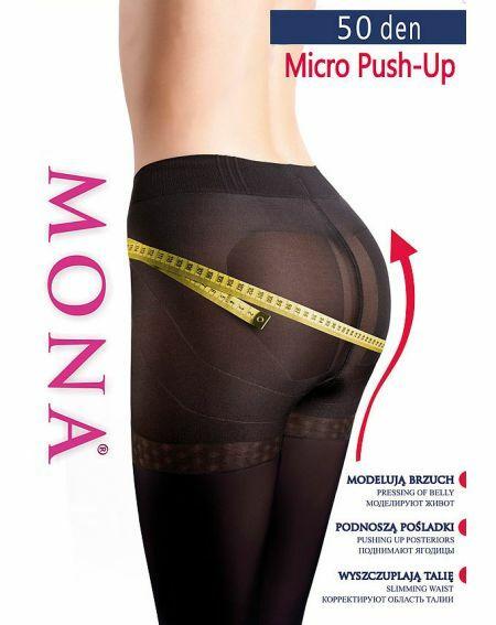 Mona Micro Push-Up Tights 50 den 2-4
