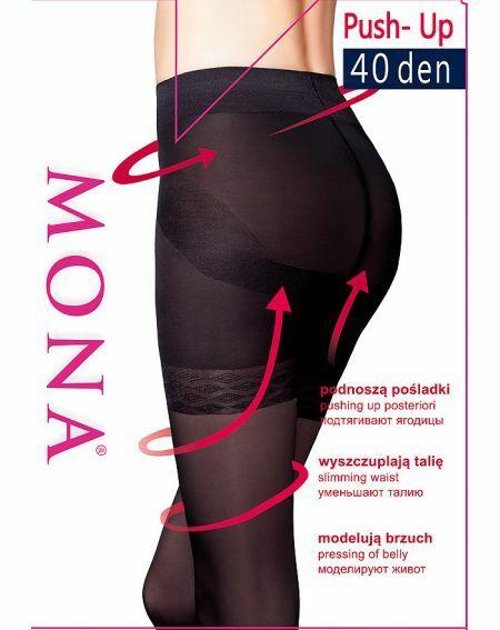 Rajstopy Mona Push-Up 40 den 5-XL