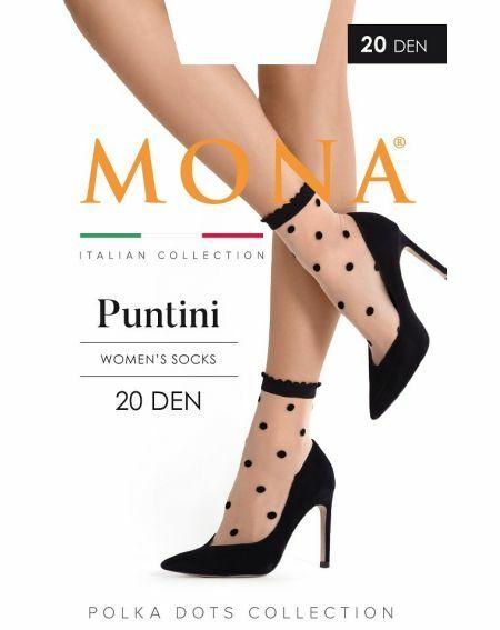 Mona Puntini 20 denier socks