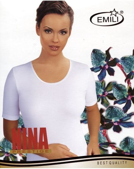 T-shirt by Emili Nina black, beige 2XL-3XL