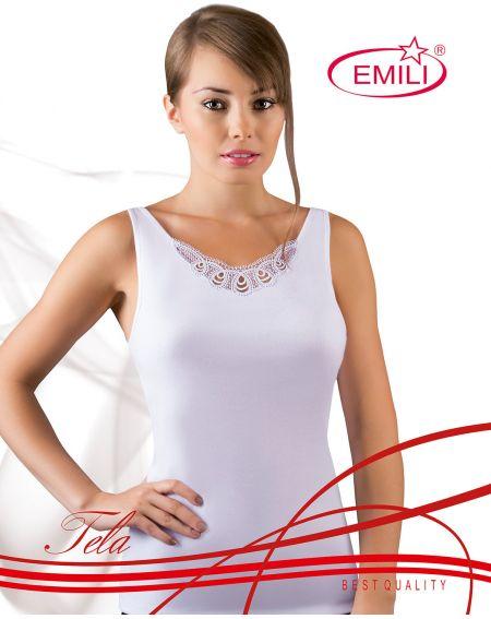 T-shirt by Emili Tela white 2XL-3XL